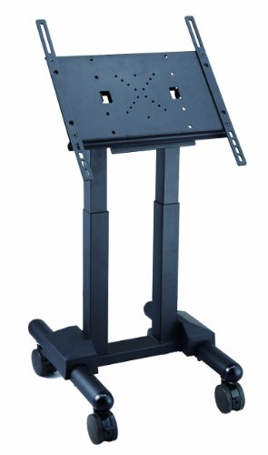 FS1043 short Exhibition Display Stand TV Trolley Floor Stand w/ Mounting Bracket for LCD/ LED/ Plasma TVs / Monitors... Black Friday & Cyber Monday 2014