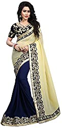 Vaidehi Fashion Women's Net Saree (Blue)