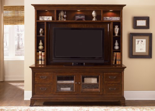 Cheap LIBERTY BALLENTINE ENTERTAINMENT CENTER TV STAND & HUTCH BRONZE CHERRY NEW (383-ENT)