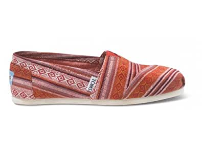 Toms Red Nepal Weave Women's Classics 10000675 (SIZE: 8)