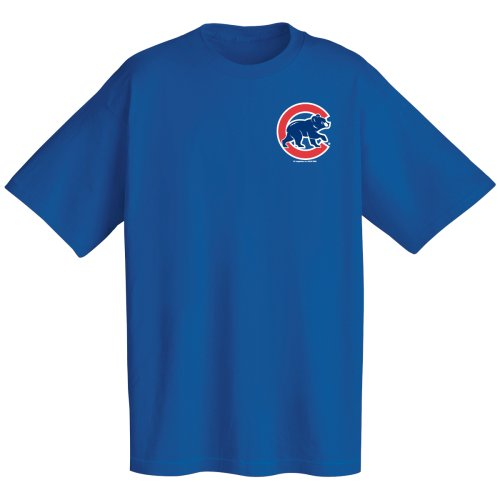 dbdd3f84363 Chicago Cubs Official Wordmark Short Sleeve T-Shirt Majestic Tees ...