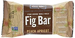 Nature\'s Bakery Whole Wheat Fig Bar, Peach Apricot, (Pack of 12)