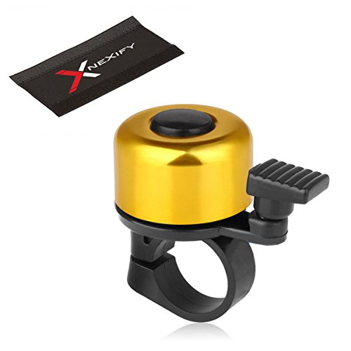 Nexify Bicycle Bike Handlebar Bell Ring Lever Cycle Push Bike (Gold) front-845114