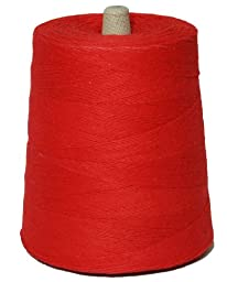 T.W . Evans Cordage 07-047 4 Poly Cotton Twine 2-Pound Cone, 9600-Feet, Red