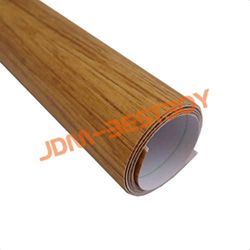 Oak wood textured grain vinyl wrap sticker decal car for What kind of paint to use on kitchen cabinets for vinyl wood sticker
