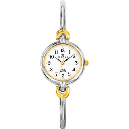 Certus 634252 - Ladies Watch - Analogue Quartz - White Dial - Two-Tone Metal Bracelet