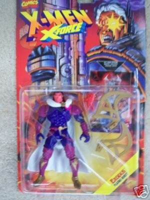:EXODUS with Plasma Burst * X-Force * 1995 Marvel Comics X-Men Action Figure & Marvel Universe Trading Card