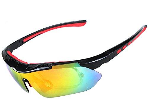 Aubig スポーツ サングラス 各種スポーツ用 偏光 レンズ5枚 アウトドア 登山 紫外線 UVカット 自転車 バイク ランニング