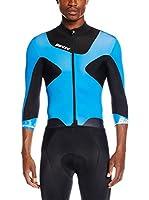 Santini Maillot Ciclismo Photon 2 3/4 Sleeve Aero (Negro / Azul)