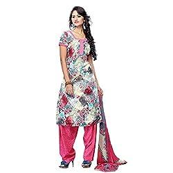 Triveni Women's Crape Salwar Kameez Dress Material (TSHCSSK6754C_Multi)