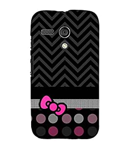 Love at Fashion Dotted Chevron Cute Fashion 3D Hard Polycarbonate Designer Back Case Cover for Motorola Moto G :: Motorola Moto G (1St Gen)