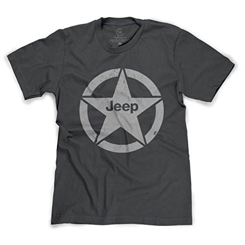 Jeep Shield Star Emblem Distressed T-Shirt