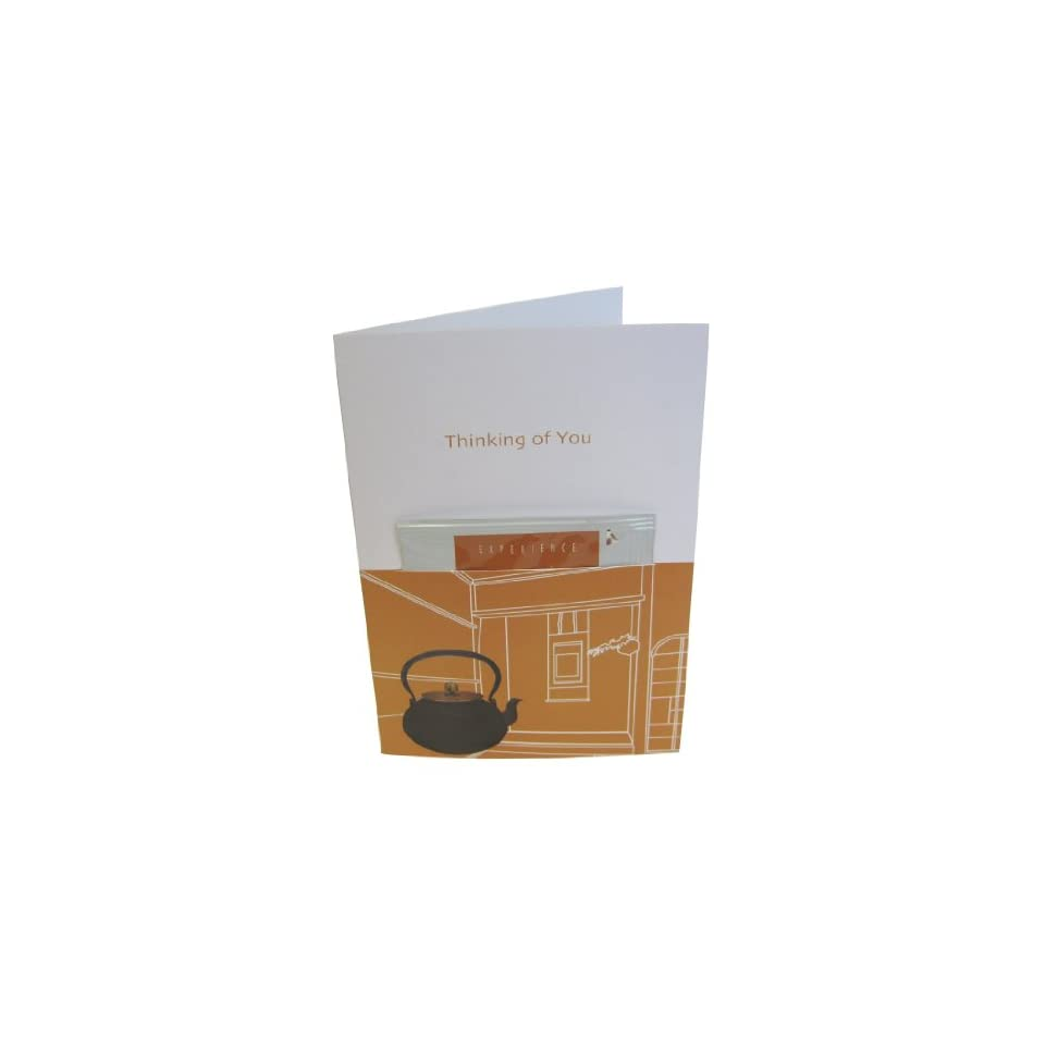 SA Japanese Green Tea greeTEAing card ?Thinking of You? with Genmai Cha Tea Pac, 1 Count (Pack of 6)