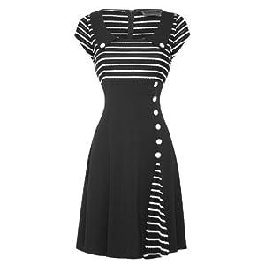 Voodoo Vixen - Damen 50er 60er Ausgestelltes Party Arbeits Kleid from Voodoo Vixen