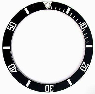 ロレックス サブマリーナ ベゼル用 目盛盤 社外品 ROLEX  16610,16800 ブラック/ホワイト