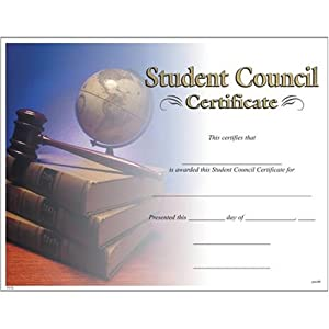 amazoncom award certificates 10 pack student council