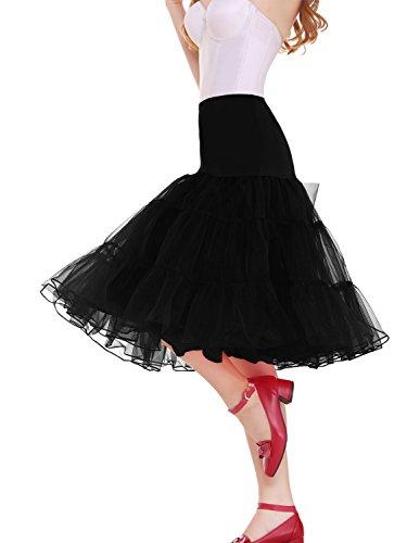 """Vianla Women's 50s Vintage Rockabilly Petticoat,26"""" Length Net Underskirt"""