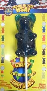 Giant Gummy Bear On A Stick Blue Raspberry