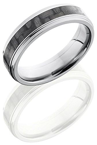 Lashbrook C6Fge13/Cf Carbon Fiber Inlay Wedding Band - Titanium