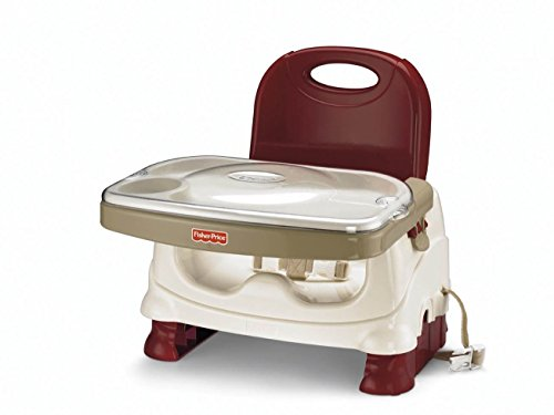 Fisher Price Healthy Care Deluxe Booster Seat Baby Feeding Seat Red Chair (Fisher Price Healthy Deluxe compare prices)