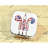 Storite Fancy Printed Designer Earphone For Apple IPhone/Android Mobiles/Tablets With Mic (Australian Flag)