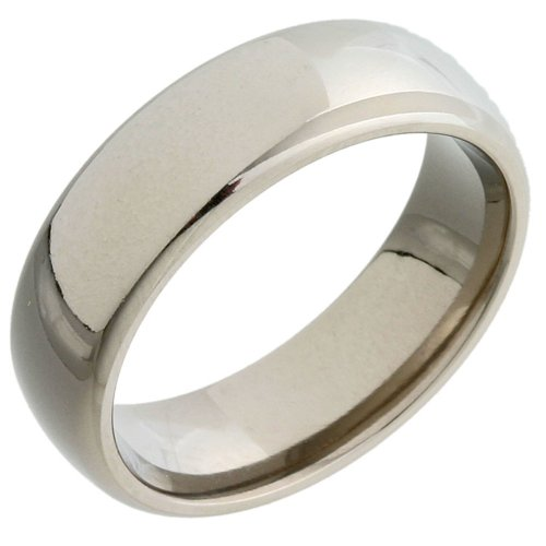 Gents' Titanium 6mm Plain Ring - Size S