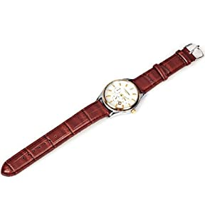 1pc LaoGeShi Unisex Watch 2 Diamond Squares and Trapezoids Hour Marks Leather Band Wrist Watch 223-1