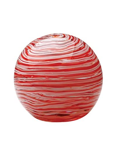 Dynasty Gallery Glass Candy Cane Ball, Red