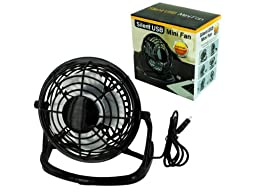 Kole Imports Silent USB Mini Fan (OB826)