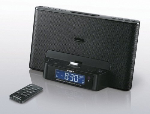 Sony Speaker Dock For Ipod And Iphone With Built In Dual Alarm Clock, Am/Fm Radio, Remote, Plus 6Ft Stereo Audio Cable To Connect Your Mp3 (Black)