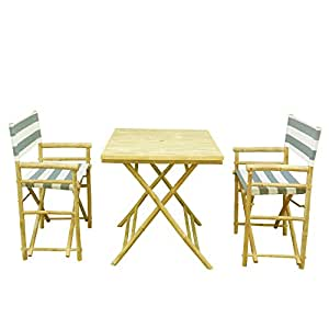 phat tommy foldable bistro set with square