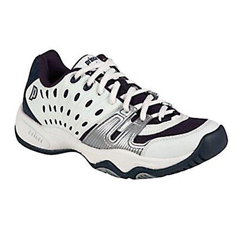 Prince T22 Junior Tennis Shoe - White/Navy/Silver