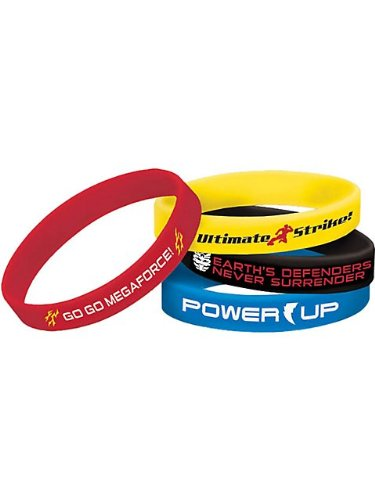 Power Rangers 'Mega Force' Rubber Bracelets (4pcs)