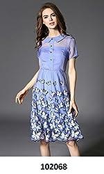 SAI Fashion Women Lawender Dress
