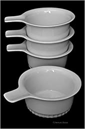 Set 4 White Porcelain French Soup Large 12oz Gratin Dishes Crock Bowls with Handle