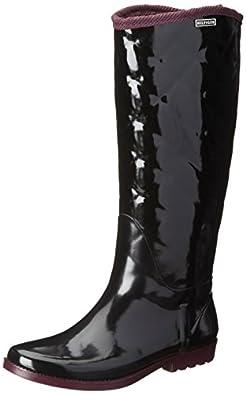 Tommy Hilfiger Women's Vintage Rain Boot,Black,6 M US
