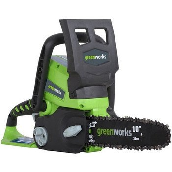 Greenworks 20092B 24-Volt Cordless Chain Saw 10-Inch bar 4.0 amp-hour Lithium Ion  Battery & Charger