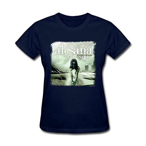 SAMSEPH Women's Alesana On Frail Wings of Vanity & Wax T-shirt Size XL Royal Blue (Midnight Special Wax compare prices)