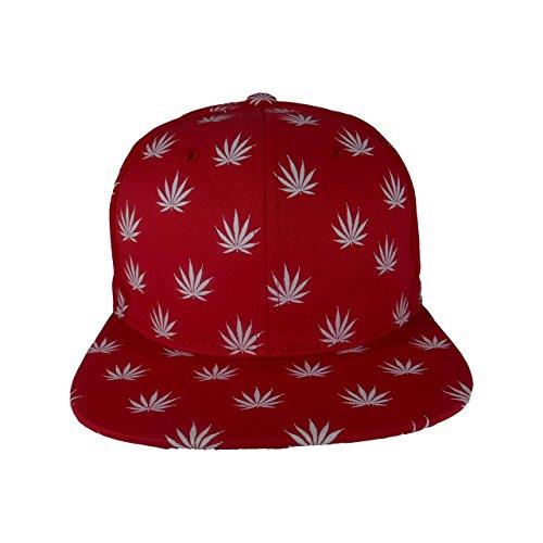 Cap2Shoes-Mens-Marijuana-Weed-Leaf-Snapback-One-Size