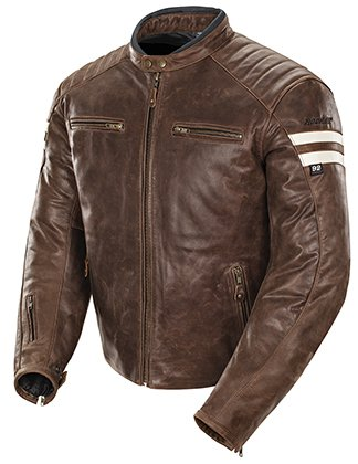 Joe Rocket Mens Classic '92 Leather Motorcycle Jacket Brown/Cream Xlarge (Joe Rocket Classic 92 compare prices)
