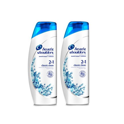 Head & Shoulders Classic Clean 2 in 1 Dandruff Shampoo & Conditioner 23.7 Fluid ounce (Pack of 2) (packaging may vary) (Head And Shoulders Men compare prices)