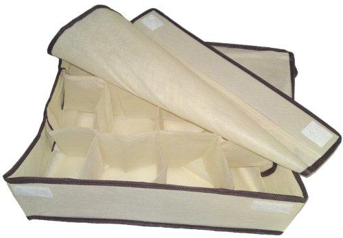 En tissu avec 12 compartiments sockenorganizer organiseur de tiroir pièce
