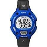 Timex Unisex T5K649 Ironman Traditional 30-Lap Full-Size Velour Blue/Black Resin Strap Watch