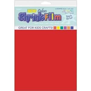 Grafix KSF6-ASST 8-1/2-Inch by 11-Inch Shrink Film, Assorted