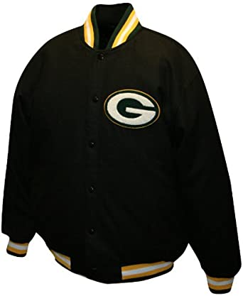 NFL Mens Green Bay Packers Dual Edge Reversible Wool Jacket by MTC Marketing, Inc