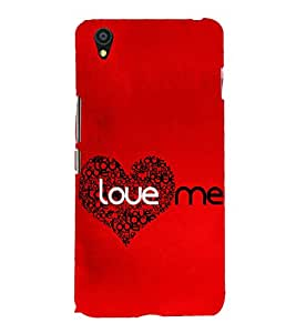 Love Me 3D Hard Polycarbonate Designer Back Case Cover for OnePlus X :: One Plus X :: One+X