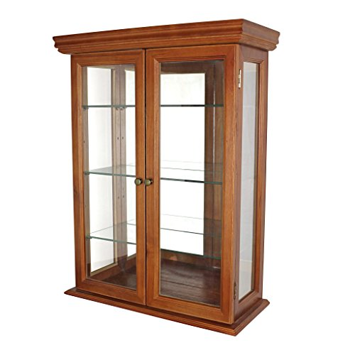 Design Toscano Country Tuscan Style Hardwood Wall Curio (Glass Door Display Cabinet compare prices)