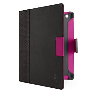 Belkin Cinema Dot Folio Case / Cover with Stand for the New Apple iPad with Retina Display (4th Generation) & iPad 3 and iPad 2 (Black/Purple)