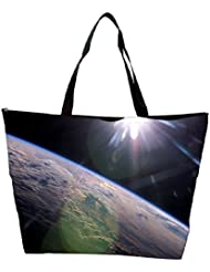 Snoogg Abstract Earth Designer Waterproof Bag Made Of High Strength Nylon