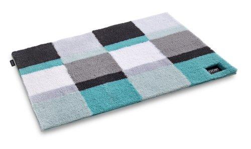 joop reef squares designer badteppich badematte t rkis. Black Bedroom Furniture Sets. Home Design Ideas